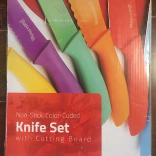 Brand new Utopia knife set with cutting board