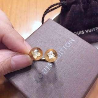 🎀LV acrylic and brass coated palladium ring