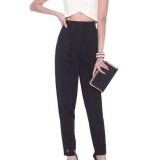 BN Love Bonito Pharyne Peg Leg Pants in Black Size L