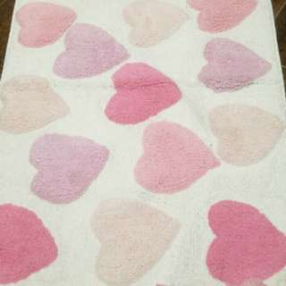 Brand new Zara Home Pink Hearts Bath Mat