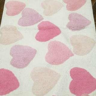 Brand new Zara Home Pink Hearts Bath Mat