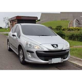 【真正自售】Peugeot 308 1.6HDi 2011年12月領牌 銀色 原廠影音+倒車顯影 出國工作割愛