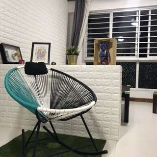 Rattan like rocking chair