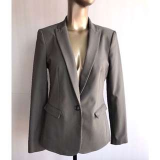 RW&Co Grey Stretch Blazer Size 8