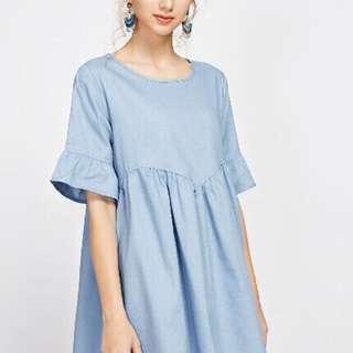 Cute denim blue dress