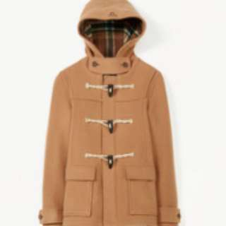 TNA Beige Wool Pea Coat - SMALL