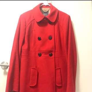 Marcs Red Italian Wool Coat