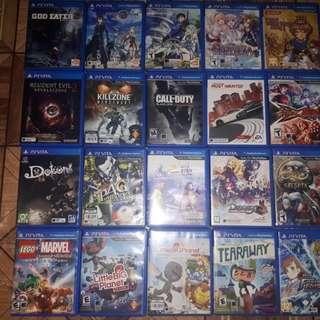Ps Vita Games Mmc And Brandnew Accesories