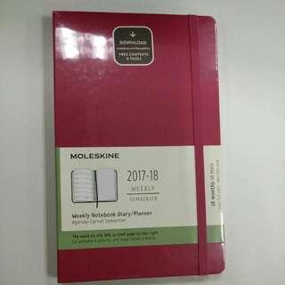 Moleskine 2017-2018 weekly notebook diary/ planner