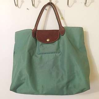 LONGCHAMP Le Pliage Open Tote Palm Green