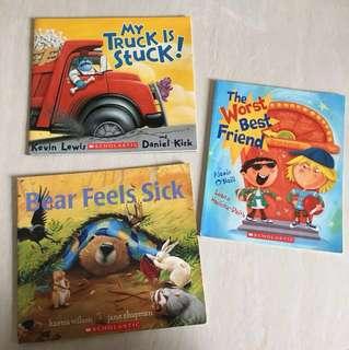 Scholastic 3 books bundle