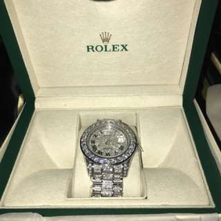 Iced Out Rolex Watch