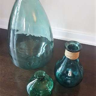 Glass Jar Vase Set (3  pieces)