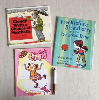 Scholastics 3 books bundle
