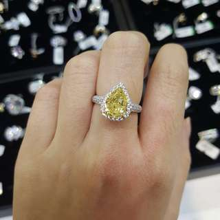 4Ct GIA YELLOW DIAMOND RING