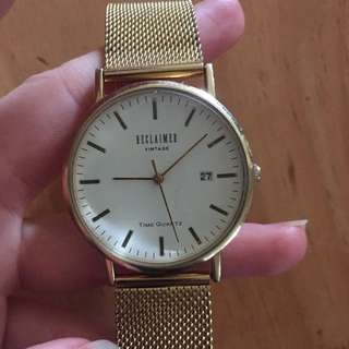 Reclaimed vintage gold watch
