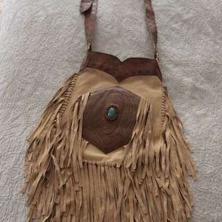Brand New Georgous Soft Suede And Leather Bag