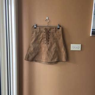 Brown skirt size 8