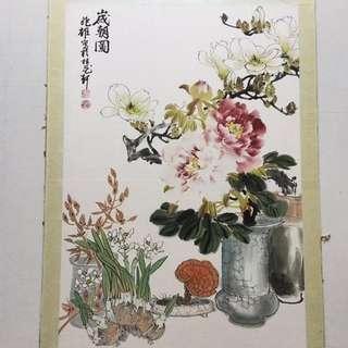 画家何兆雄90x59cm Chinese Painting