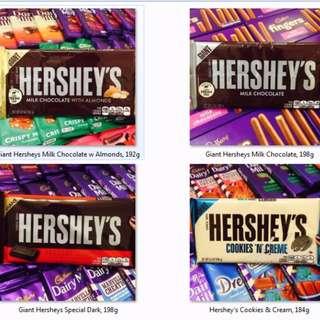 IMPORTED CHOCOLATES!! HERSHEY'S