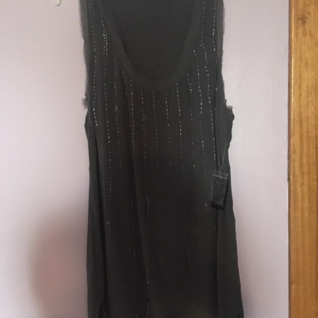 100% silk brand-new with tags frayed top