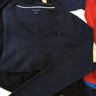 AUTHENTIC Tommy Hilfiger Small Navy Blue Sweater