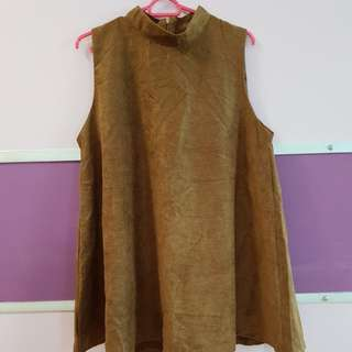 Brown Dress with high neck