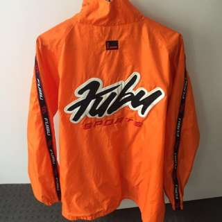 Vintage FUBU Arm Spellout Big Arm Spellout Sunkist Spray Jacket