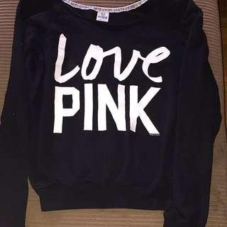 VS Pink off the shoulder sweater