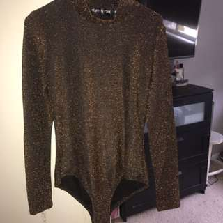 Sparkle long sleeve bodysuit