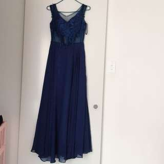 Navy Blue Ball dress