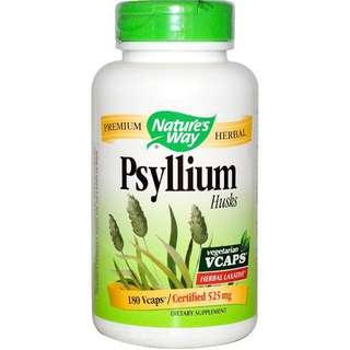 Nature's Way, Psyllium, Husks, 525 mg, 180 Veggie Caps
