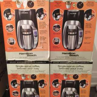 Hamilton beach coffee makers- like new condition - you are buying all 4