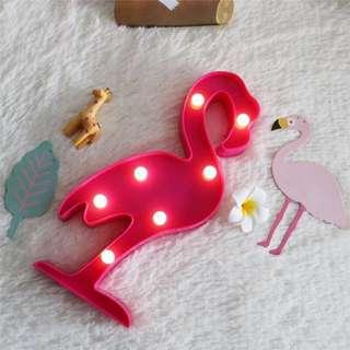 火烈鳥造型燈 創意小夜燈 生日禮物 聖誕禮物