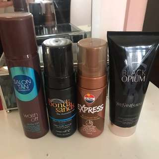 ALL 4 bottles for $20 , fake tans & YSL glitter moisturiser