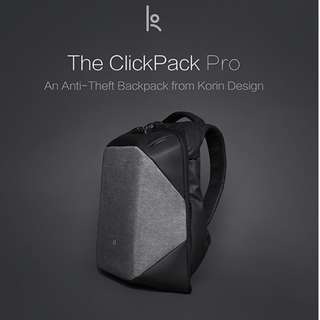 ClickPack Pro - The Best Functional Anti-theft BackPack