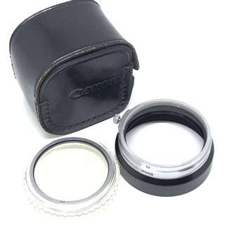 Canon 50mm F1.4 LTM HOOD, 48mm filter Set