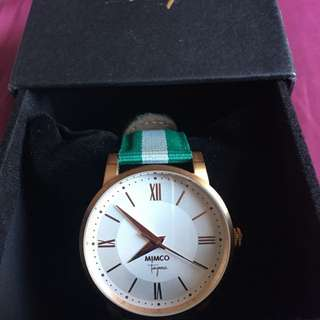Mimco Varsity time piece watch Jade as new