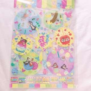 🇯🇵2017 Disney東京迪士尼樂園限定 夏日祭典 米奇米妮 唐老鴨黛西 奇奇蒂蒂 資料夾A4