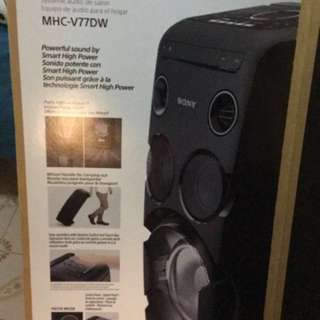 Sony MHC-V77dw High Power Audio System Party Boombox With Bluetooth And CD Player