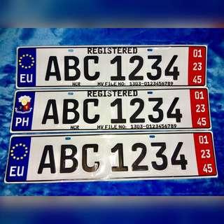Plate Temporary Virtual Lost Conduction Euro Japanese Car Motor