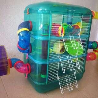 Hamster Cage 3 Floor (3 Tingkat)