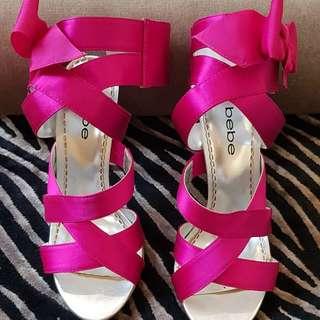 Bebe fushia heels