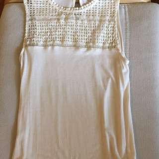 Forever 21 cream sleeveless top