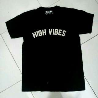 T-Shirt Kaos High Vibes Adzkas Black UNISEX