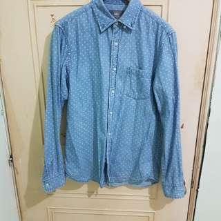 NET 牛仔襯衫  十字紋路 類似PORTER