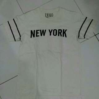 T-Shirt Kaos Erigo New York White S