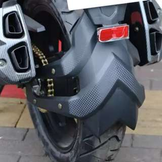 Splash guard for cb190r and cb190x