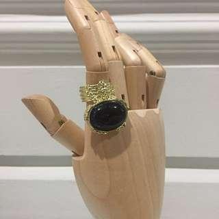 CINCIN YSL Arty Black / SALE ring perhiasan jewelry