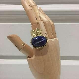 CINCIN YSL Arty Ring Navy Biru Dongker / SALE Perhiasan Jewelry